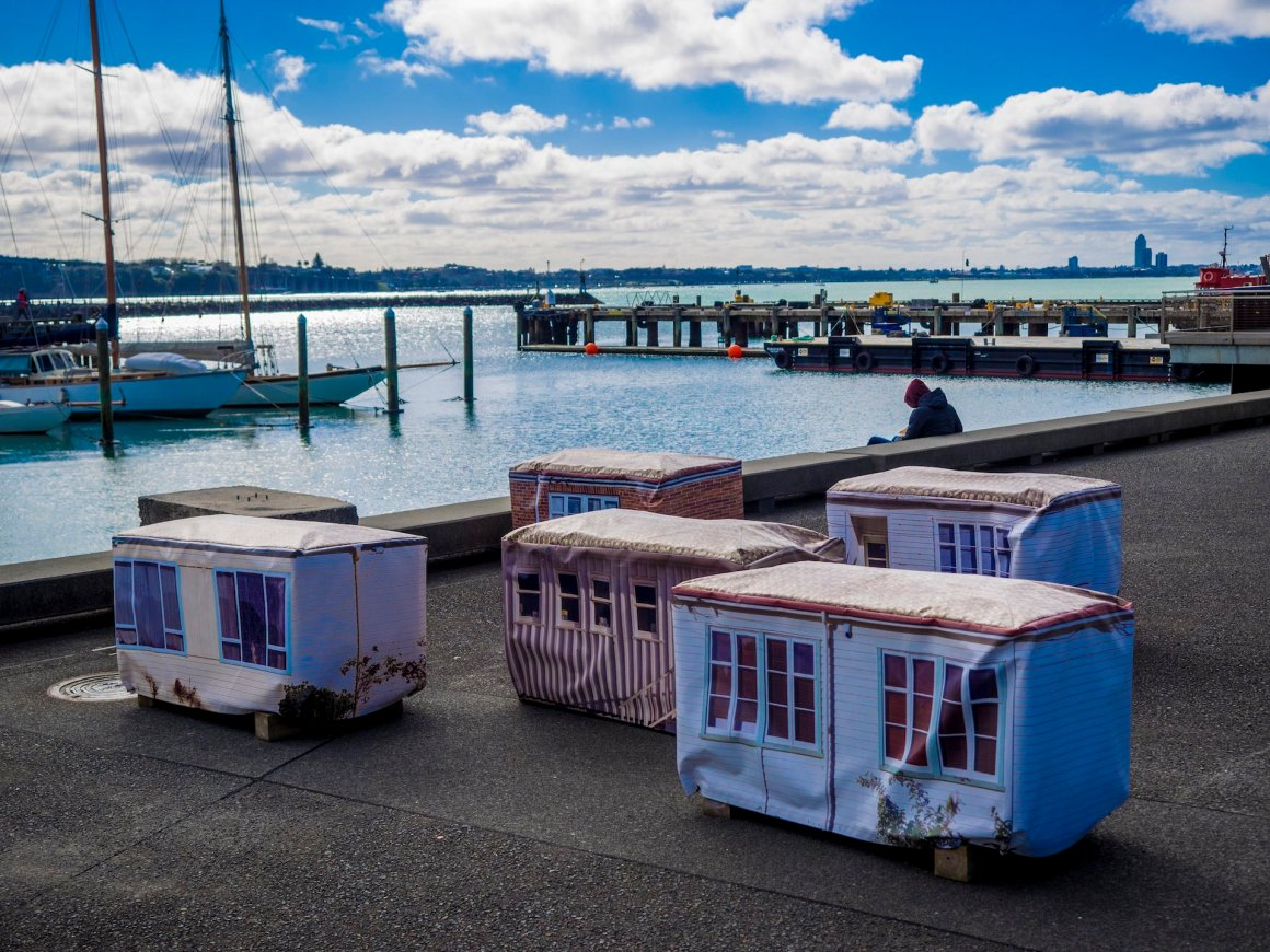 Little Houses Wynyard Quarter - Street Photography Auckland