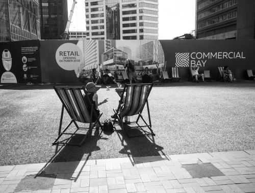 Britomart Station - Black & White Street Photography Auckland