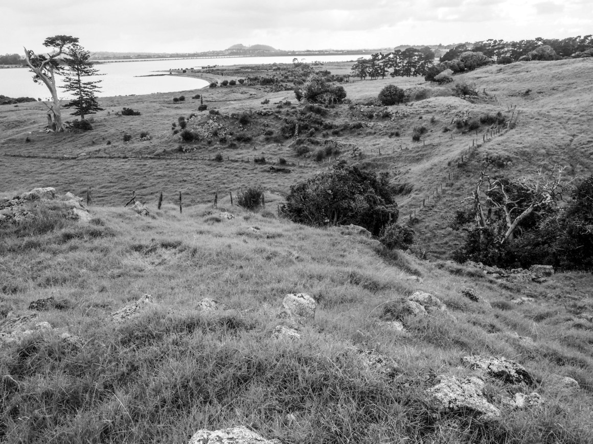 Otuataua Hills Mangere Black and White