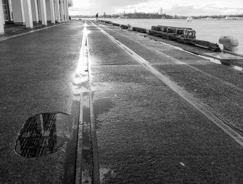 Viaduct Water Puddle Street Photography Auckland