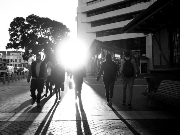 Sunset & Shadows Street Photography Auckland