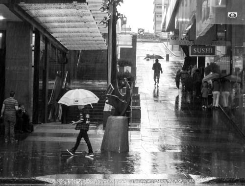 Queen Street Rain - Auckland Street Photography