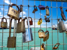Group of Love Locks in Auckland Central