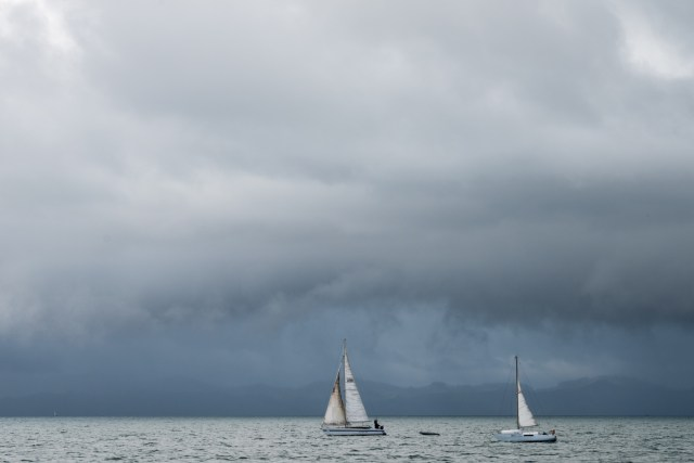 Sailing Boats on way to Aotea Great Barrier Island