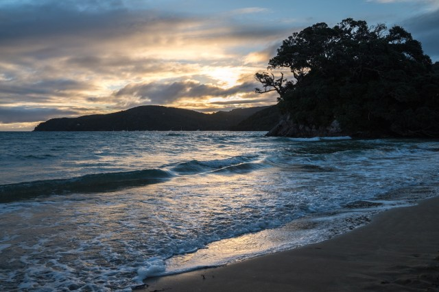 Tryphena Beach Sunset at Aotea Great Barrier Island