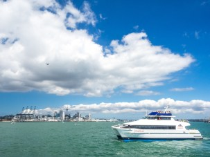 Auckland Harbour Ferry Leaving