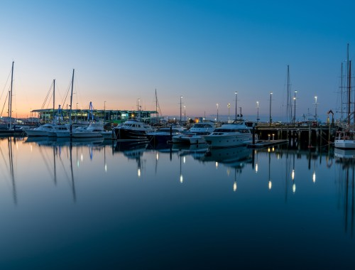 Beautiful Viaduct Harbour Sunset - Street Photography Auckland