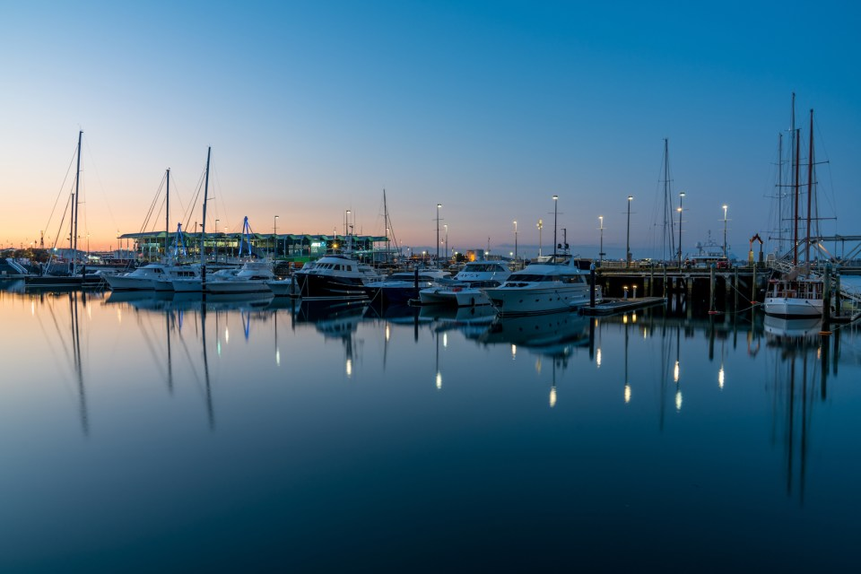 Auckland Viaduct Harbour Yachts Sunset - Aucklife Photo Print