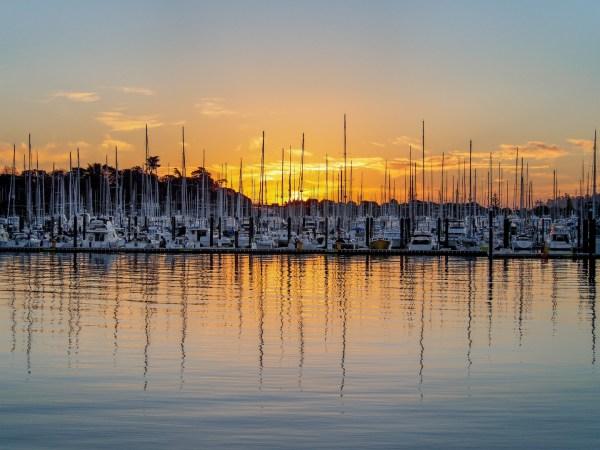 Auckland Westhaven Marina Sunset - Aucklife Framed Photo Print