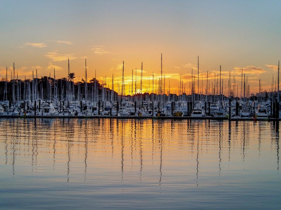 Auckland Westhaven Marina Sunset - Aucklife Photo Print