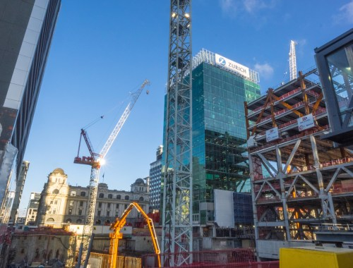 Queen Elizabeth Square Construction Britomart