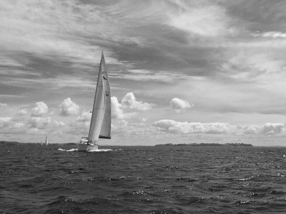 Image of a sailing boat in the Hauraki Gulf