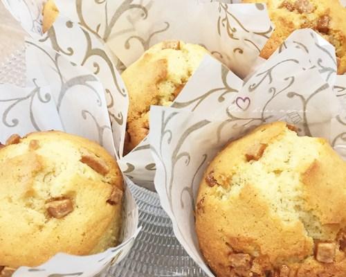 Muffins vanille caramel