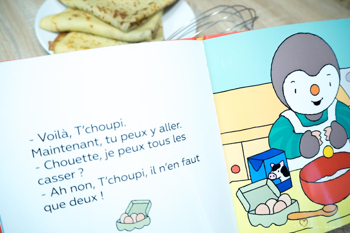 Tchoupi fait des crêpes
