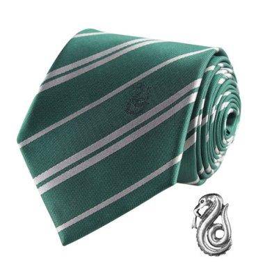 Cravate Deluxe Serpentard avec pin's