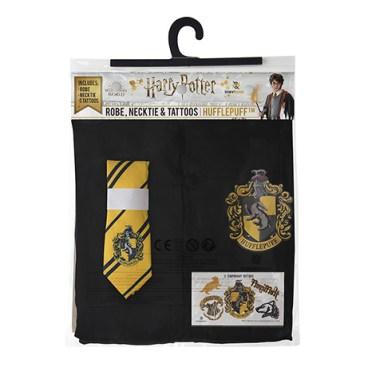 Pack déguisement Poufsouffle : robe de sorcier + cravate + 5 tatouages