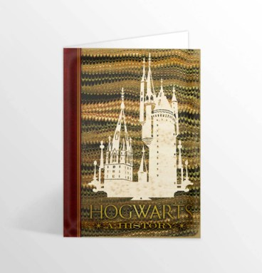 Carte 2 volets Hogwarts : A History