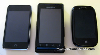 Apple iPhone, Motorola Droid and Palm Pre