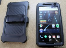 The SUPCASE belt clip holster case keeps the Nexus 6 safe from industry