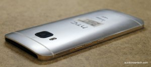 The back of the HTC One M9