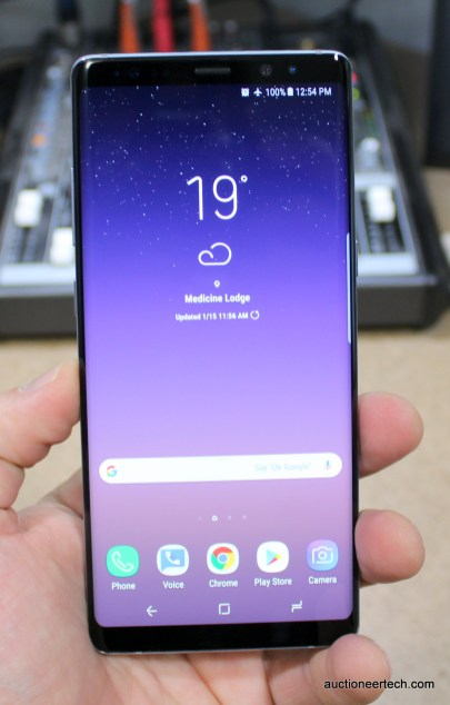 Samsung Galaxy Note8 handheld