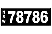 Number Plates - NSW Numerical Number Plates '78786'