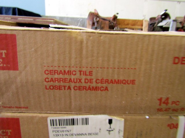 ceramic tile flooring 18 boxes lot
