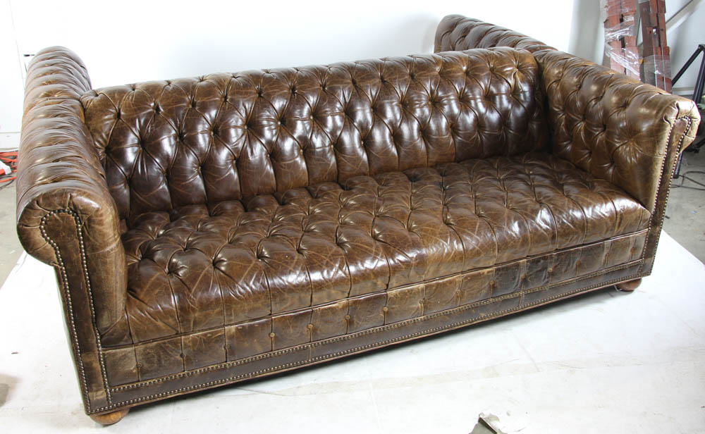 lot detail double sided leather sofa