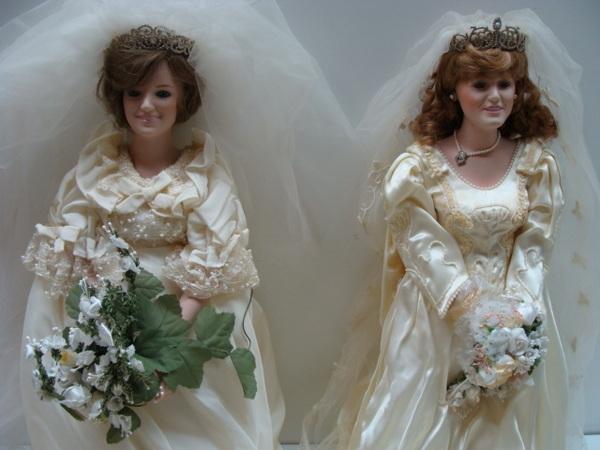 Princess Diana And Sarah Fergie Ferguson Porcelain Bride