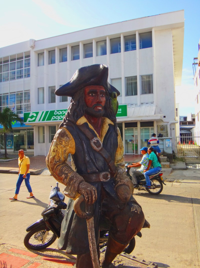 Henry Morgan statue in San Andres