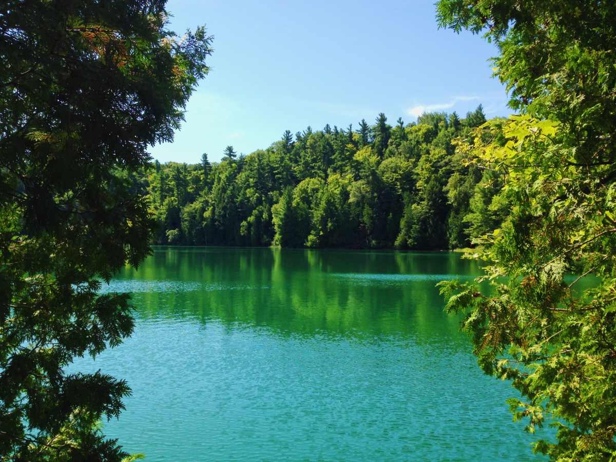 The emerald lake in Gatineau Park