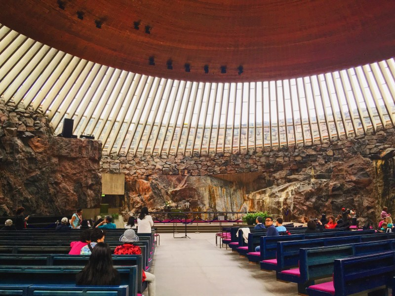 Temppeliaukio Church in Helsinki