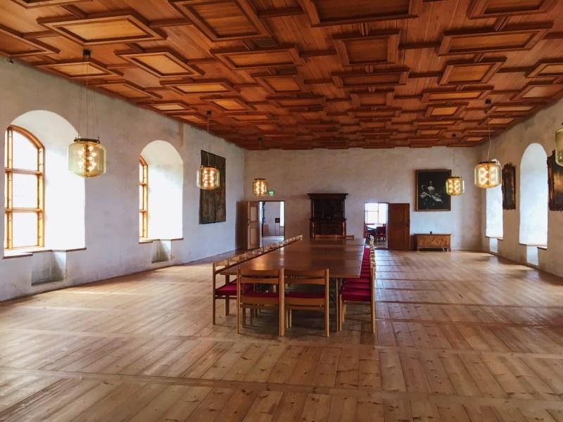 À l'intérieur du château de Turku