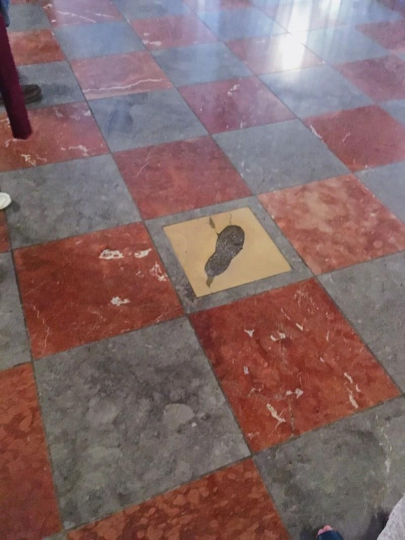 La trace du diable dans la Frauenkirche