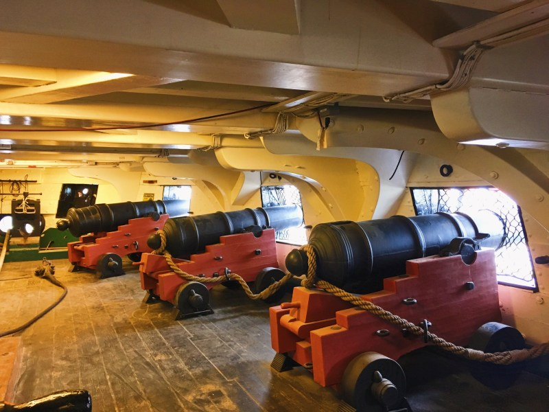 Canons on USS Constitution