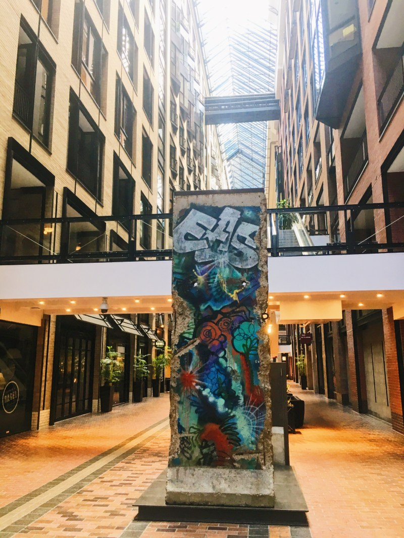 Berlin Wall at the World Trade Centre in Montreal