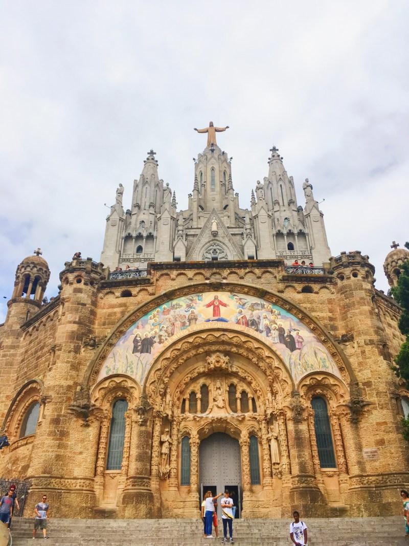 Sagrat Cor at Tibidabo Mountain