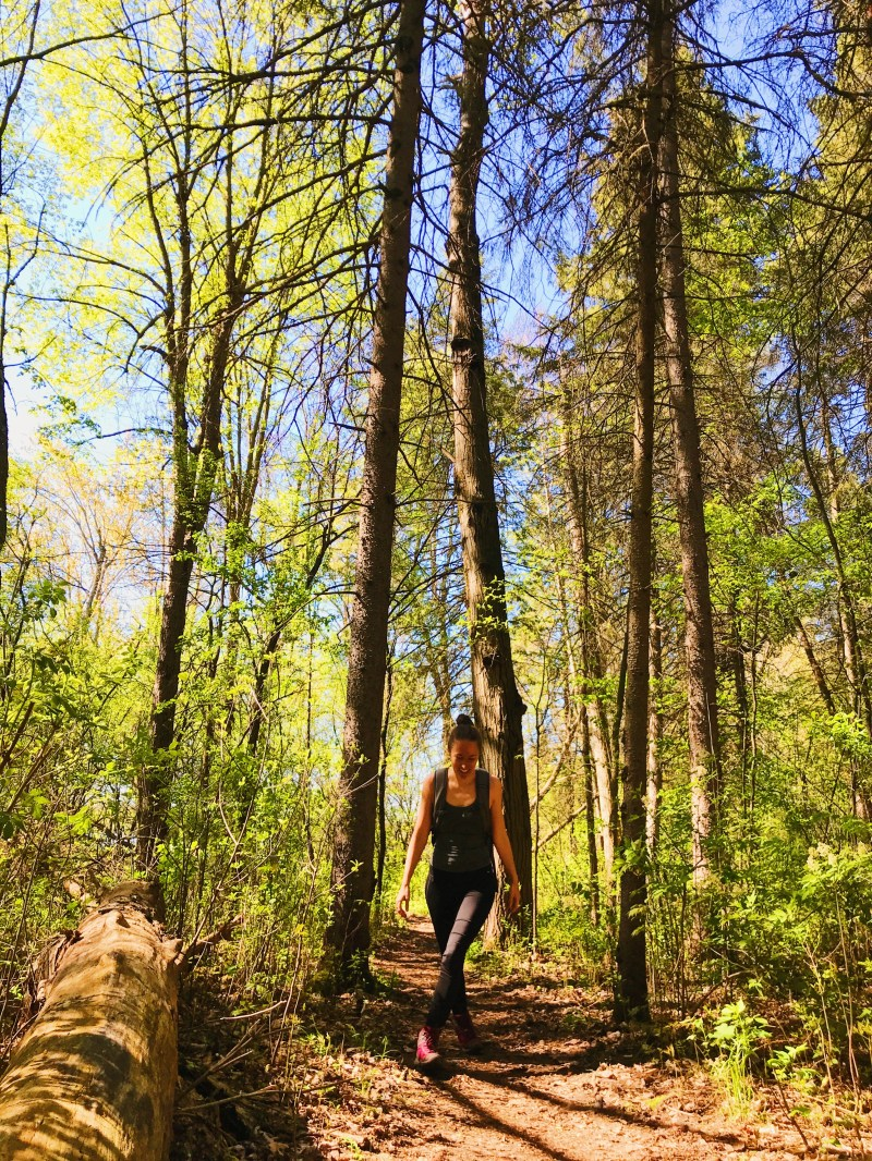 Hiking in Rideau River Provincial Park