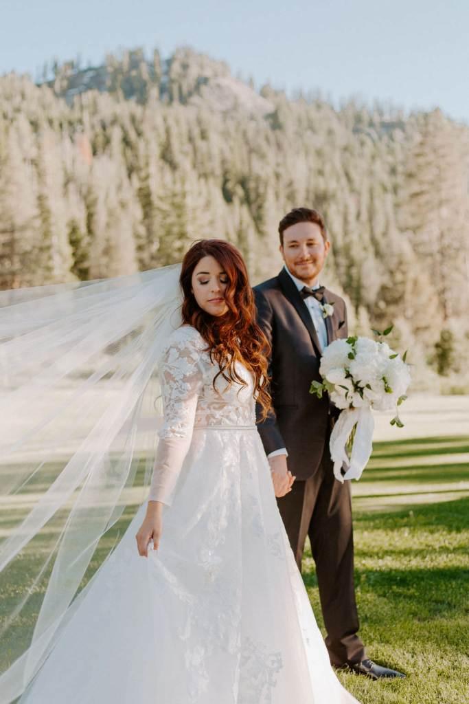 Modern Gold & White Wedding