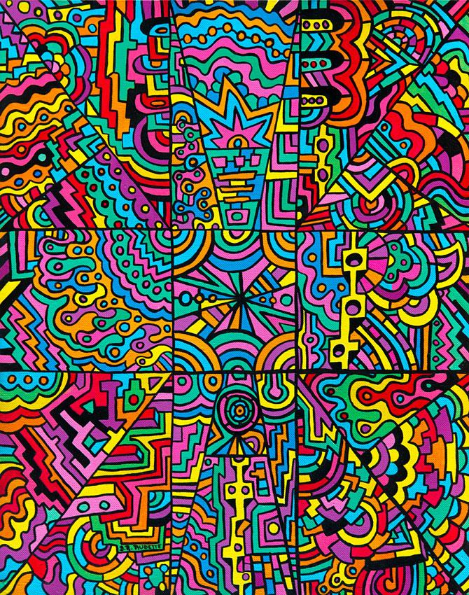 """A Blinding Vision at Morro do Vintem"" - Original artwork by Derek R. Audette."