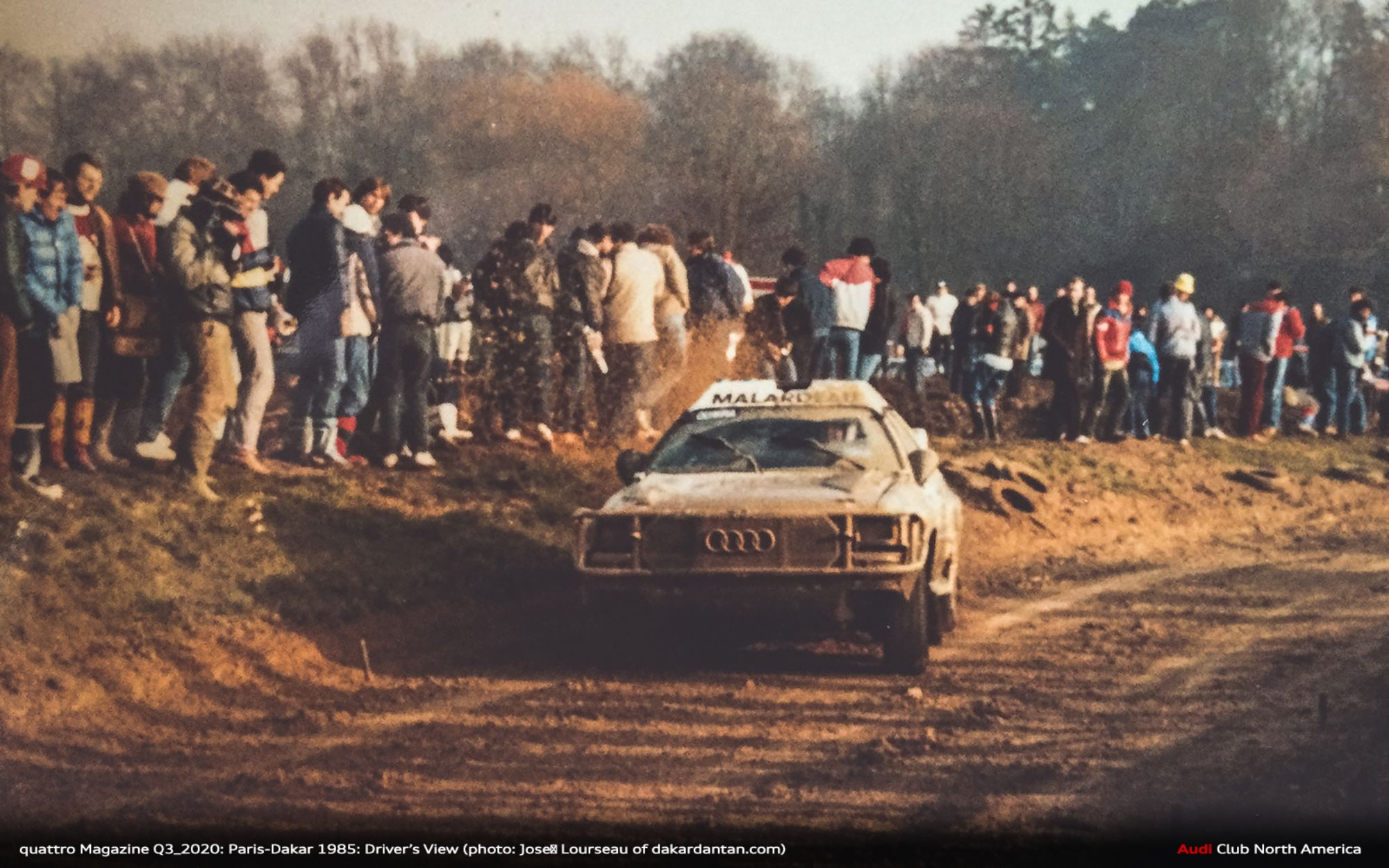 quattro Magazine Q3_2020: Paris-Dakar 1985: Driver's View - An interview with Audi Sport France driver José Lourseau
