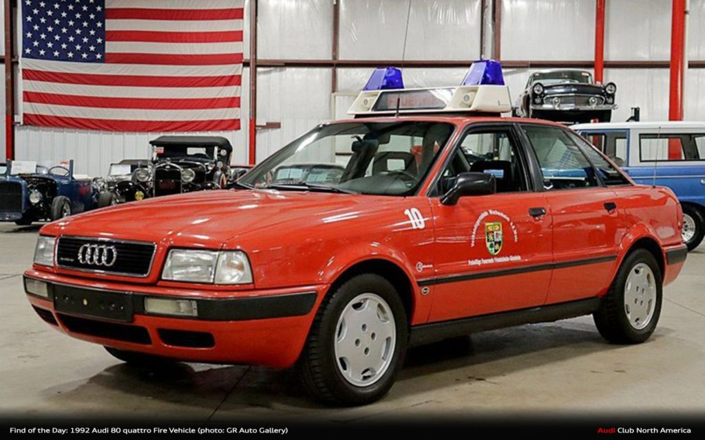 Find of the Day: 1992 Audi 80 quattro Fire Vehicle
