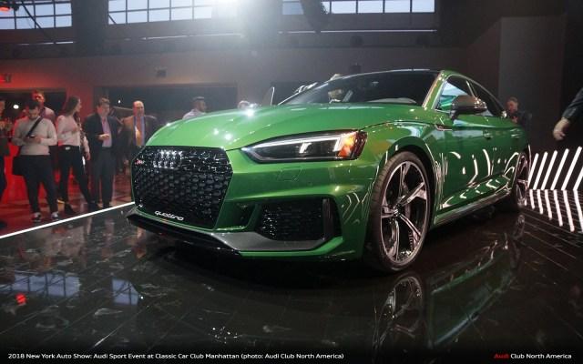 Audi Reveals RS 5 Sportback at Classic Car Club Manhattan Event