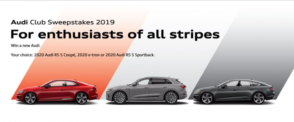 A New Twist: The 2019 Audi Club Sweepstakes Offers Three Choices
