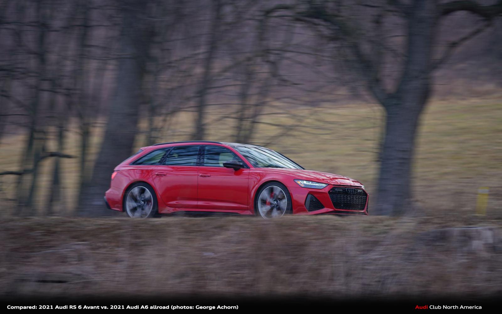 Compared: 2021 Audi RS 6 Avant vs. 2021 Audi A6 allroad - Enthusiast Unit vs. Consumer Unit