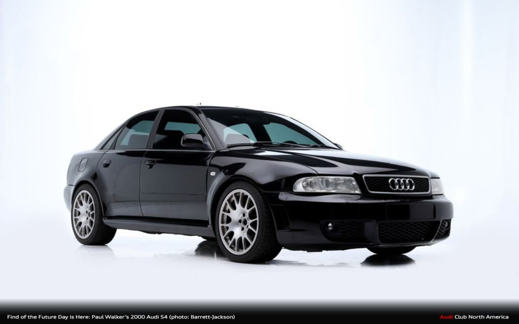 Find of the Future Day is Here: Paul Walker's 2000 Audi S4