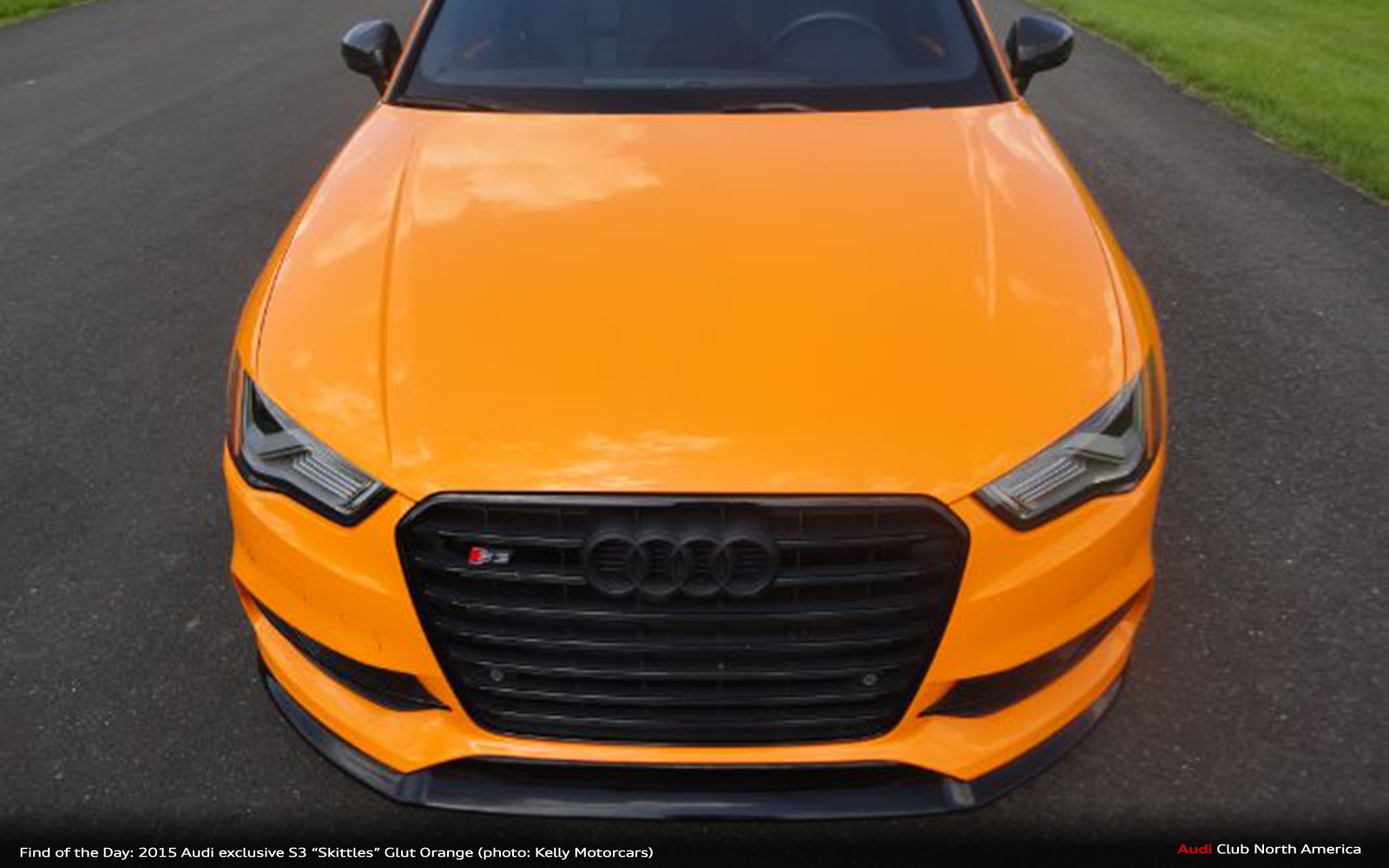 Find of the Day: 2015 Audi exclusive Glut Orange S3 'Skittles'