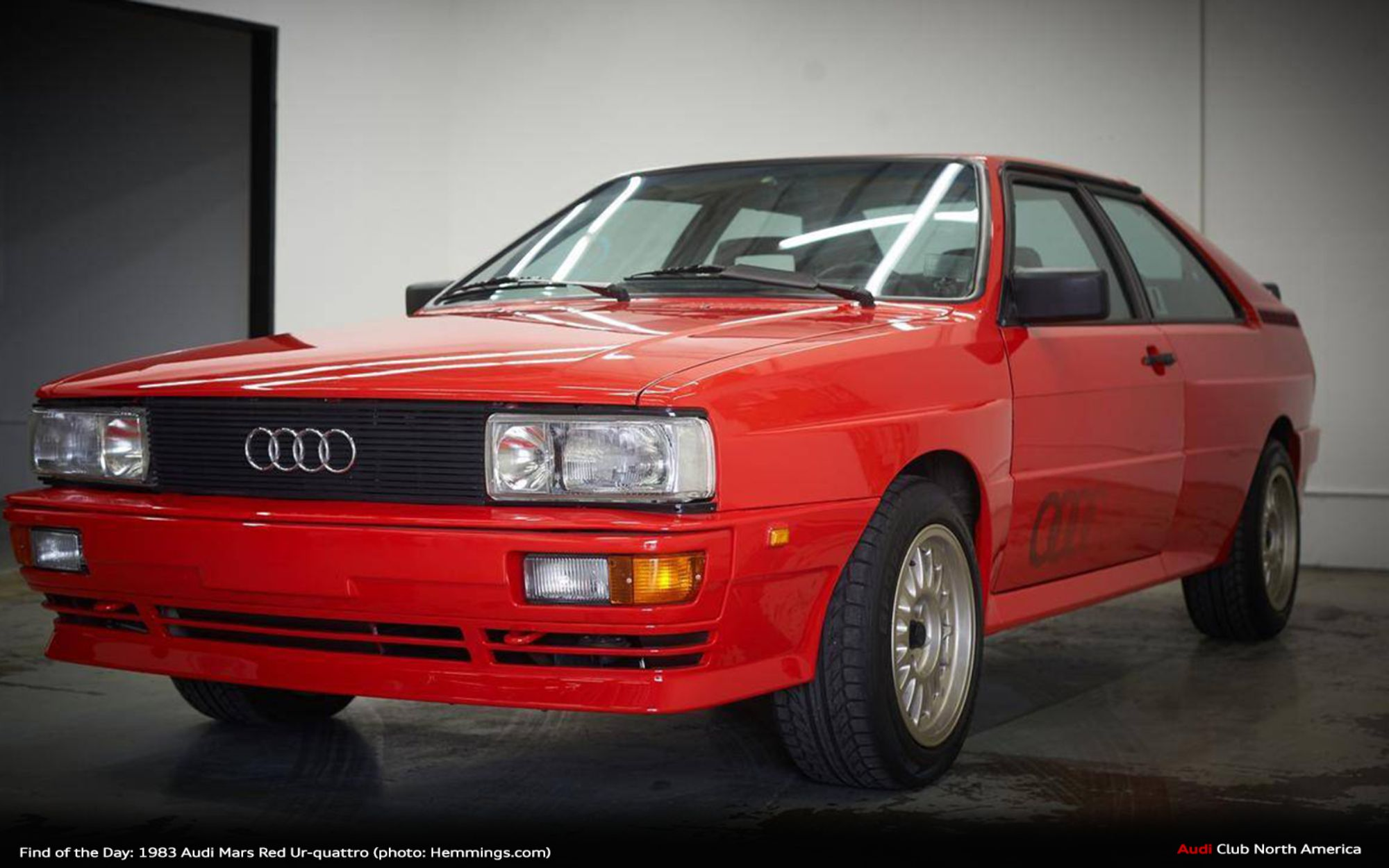 Find of the Day: 1983 Audi Mars Red Ur-quattro