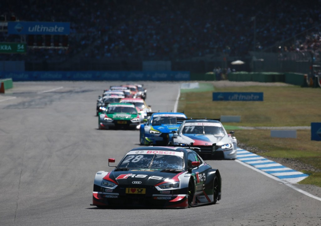 Audi Driver Rockenfeller Runner-Up in DTM Thriller at Hockenheim