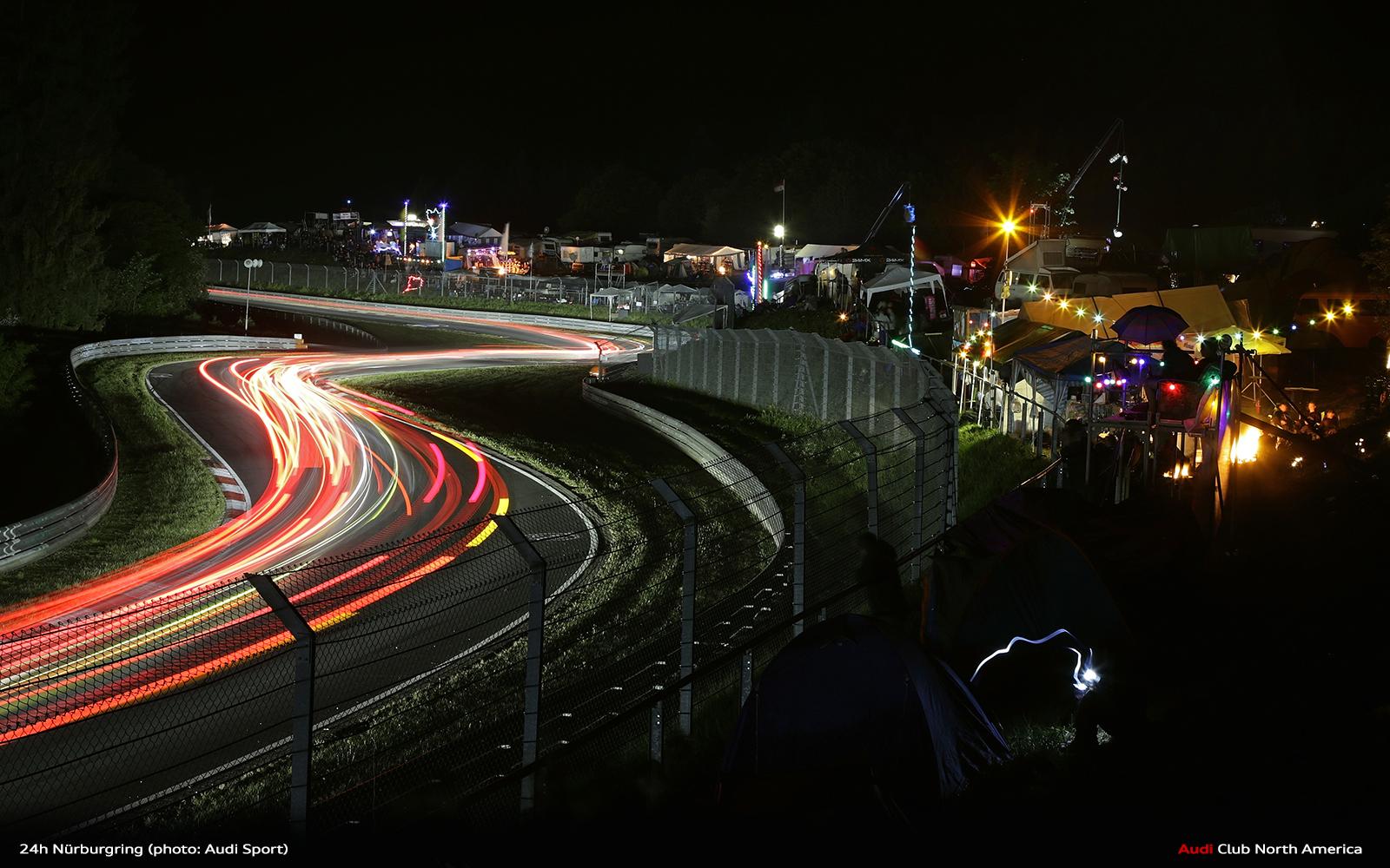 Six Audi R8 LMS GT3 in Nürburgring 24 Hours